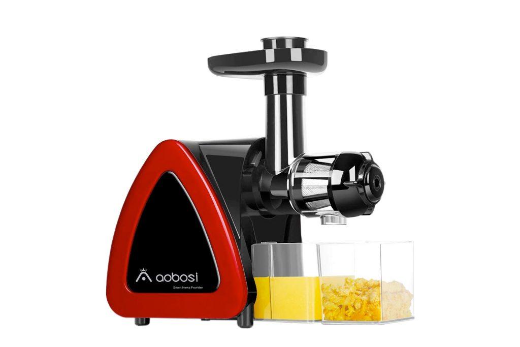 aobosi masticating juicer, red